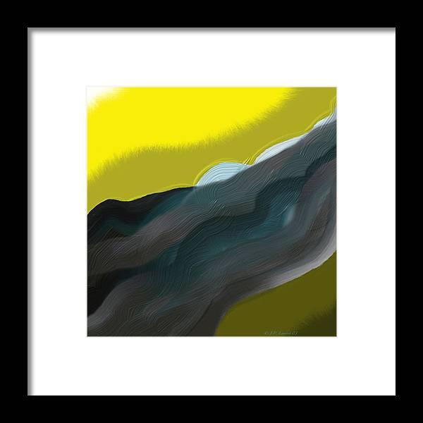 Digital Framed Print featuring the digital art Flow by J P Lambert