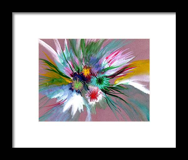 Flowers Framed Print featuring the painting Flowers by Anil Nene