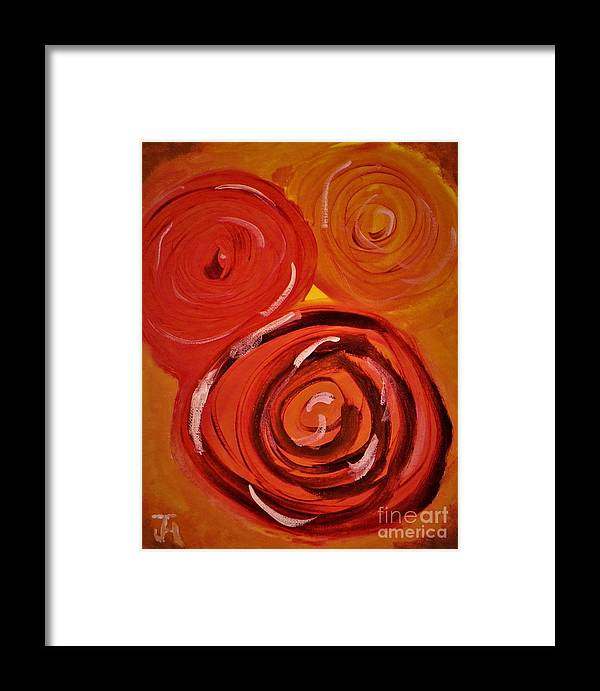 Abstract Framed Print featuring the painting Flowers by John Holman Jr