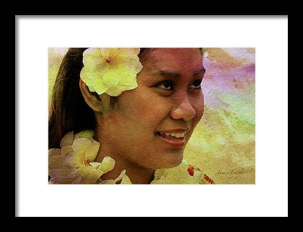 Flowers That Smile Framed Print featuring the digital art Flowers That Smile by James Temple