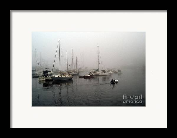 Ships Framed Print featuring the photograph Foggy Camden Harbor by Neil Doren