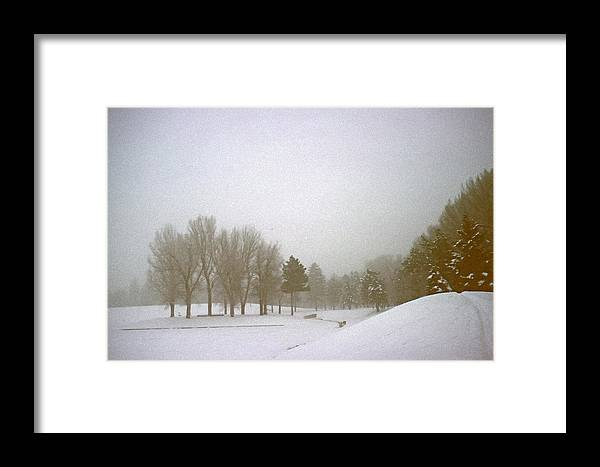 Fog Framed Print featuring the photograph Foggy Morning Landscape 5 by Steve Ohlsen