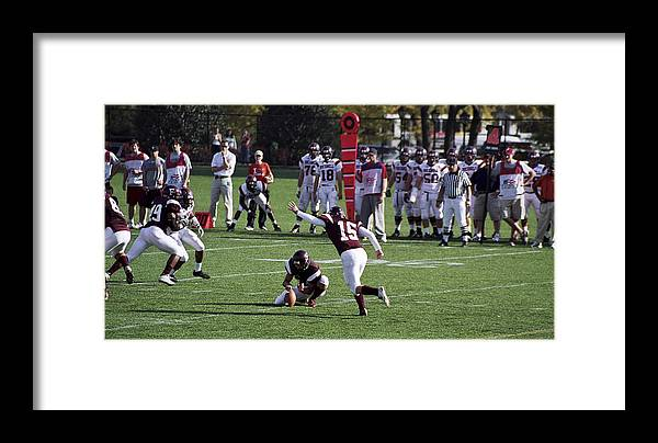 Kicking Framed Print featuring the photograph Football by Wes Shinn