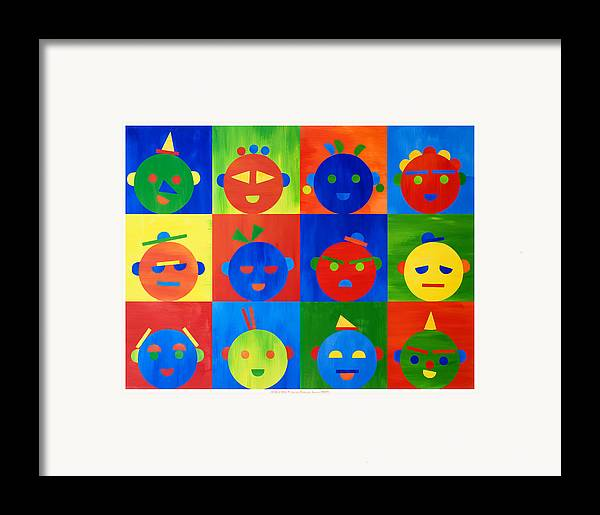 Kids Framed Print featuring the mixed media For Kids N.2 by Heike Schenk-Arena