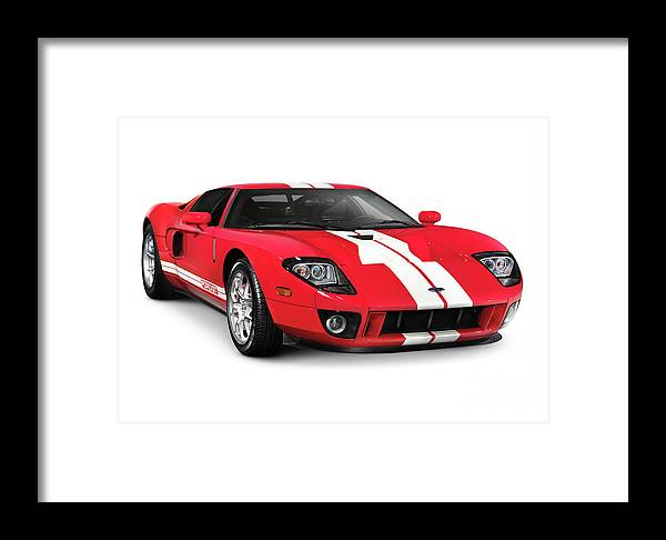 Supercar Framed Print featuring the photograph Ford Gt Supercar by Oleksiy Maksymenko