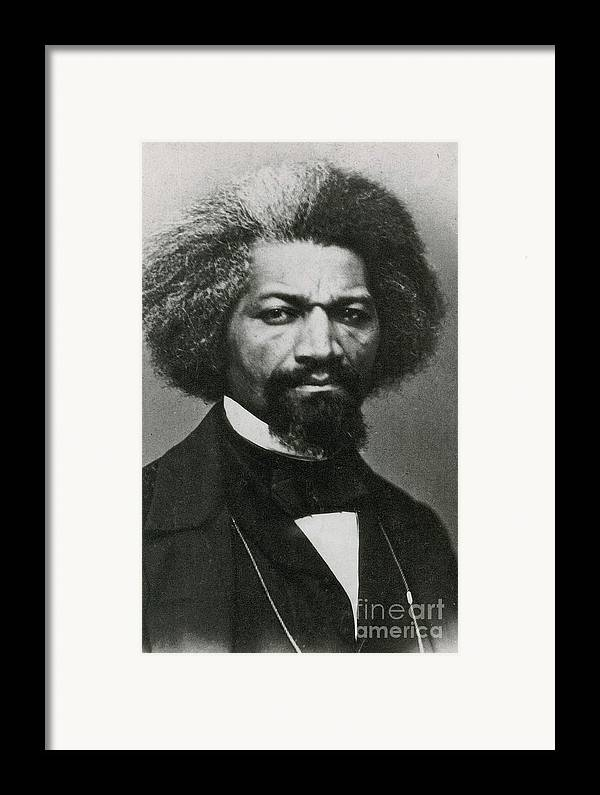 History Framed Print featuring the photograph Frederick Douglass, African-american by Photo Researchers