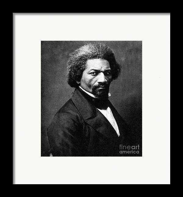 1866 Framed Print featuring the photograph Frederick Douglass by Granger