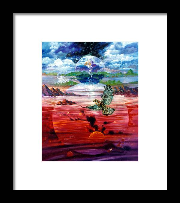Bird Framed Print featuring the painting Free at Last by John Lautermilch