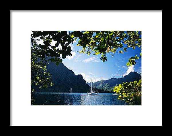 Across Framed Print featuring the photograph French Polynesia, Moorea by Dana Edmunds - Printscapes