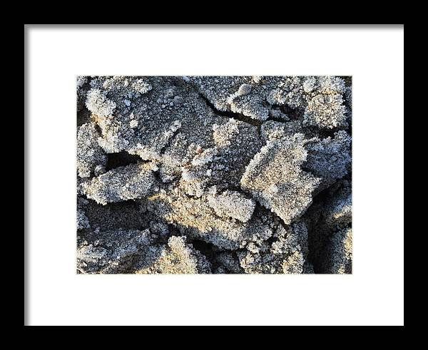 Abstract Framed Print featuring the digital art Frost Crystals by Lyle Crump