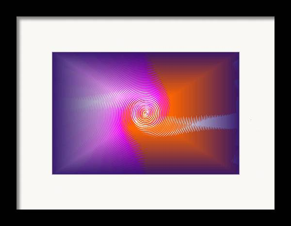 Framed Print featuring the digital art Fusion by Andreas R Wesener