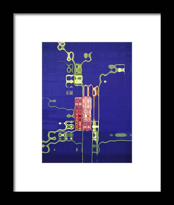 Blue Framed Print featuring the photograph Future Flower 1 by Tom Reynen