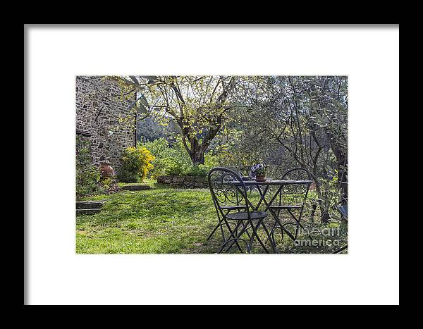 Gardening Framed Print featuring the photograph Garden In Spring by Patricia Hofmeester