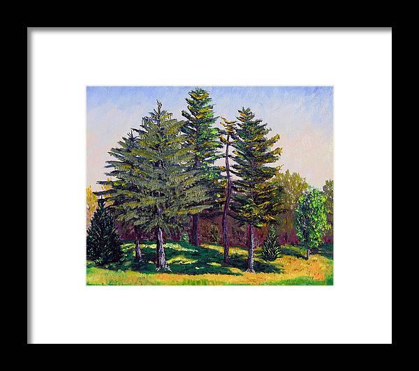 Plein Air Framed Print featuring the painting Garfield Trees by Stan Hamilton