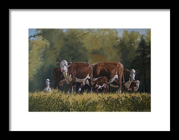 Landscape Framed Print featuring the painting Generations by Peter Muzyka