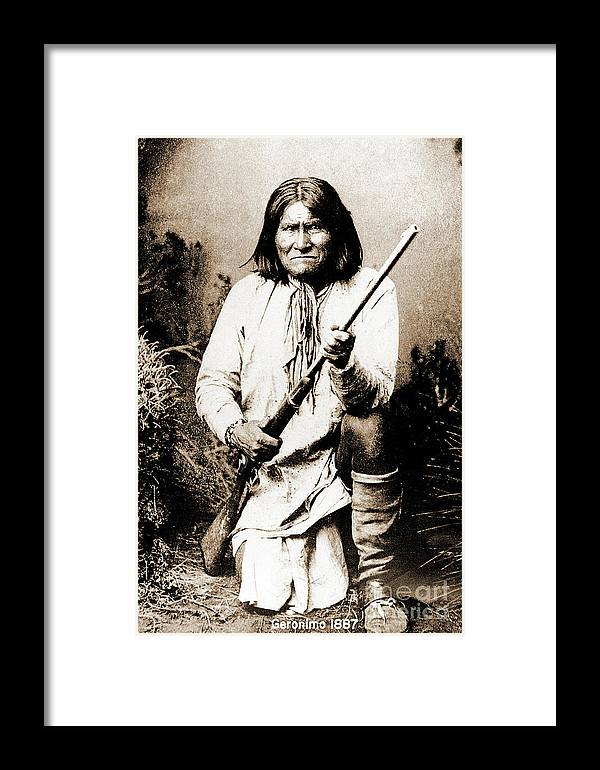 Native Framed Print featuring the photograph Geronimo by Gary Wonning