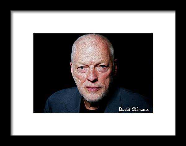 David Gilmour Framed Print featuring the painting Gilmour By Nixo by Never Say Never