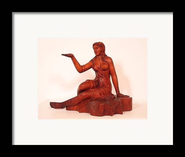 Sculpture Framed Print featuring the sculpture Girl by Thu Nguyen