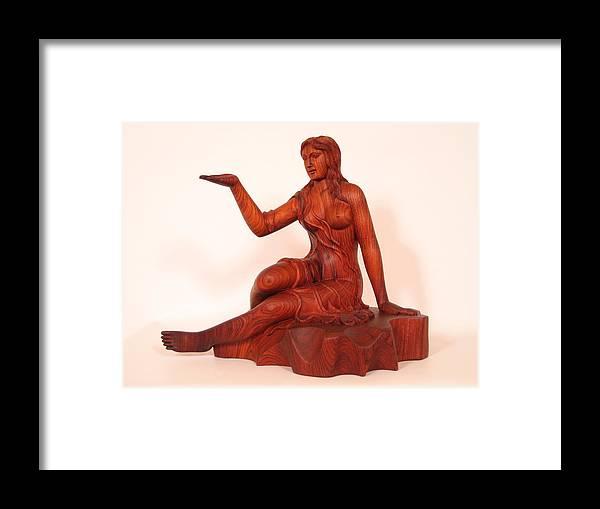 Sculpture Framed Print featuring the sculpture Girl by Thu Nguyen
