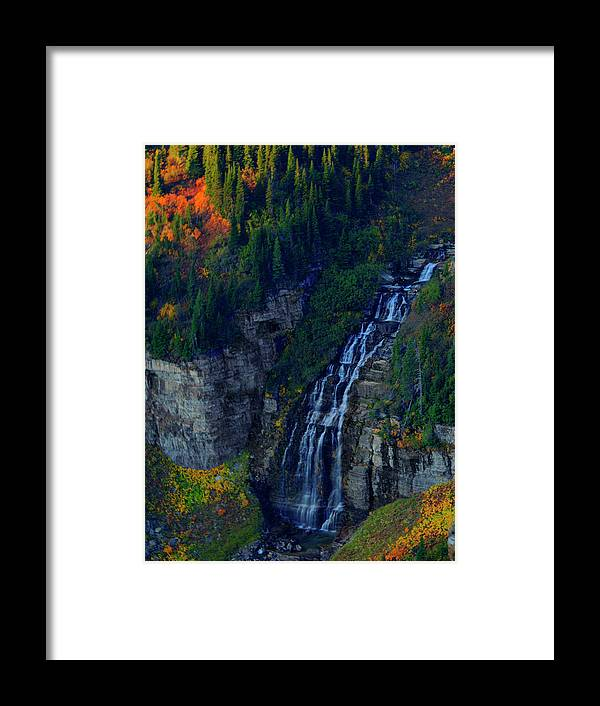 Glacier Framed Print featuring the photograph Glacier Waterfall by Roy Nierdieck