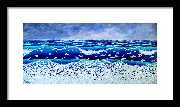 Ocean Framed Print featuring the painting Global Warming by Blaine Filthaut