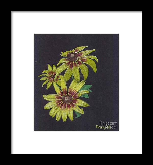 Daisy Framed Print featuring the pastel Gloriosa Daisy by Mendy Pedersen