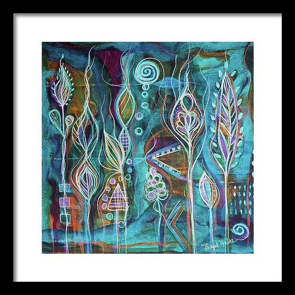 Intuitive Art Framed Print featuring the painting Glow by Angel Fritz