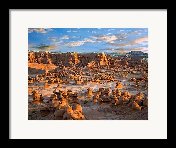 Goblin Valley State Park Framed Print featuring the photograph Goblin Valley State Park Utah by Utah Images