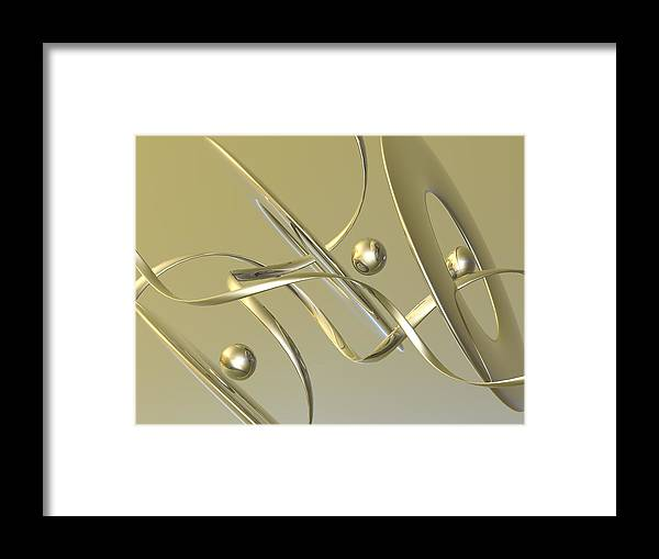 Scott Piers Framed Print featuring the painting Gold by Scott Piers