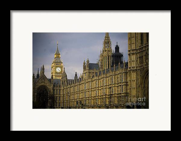 London Framed Print featuring the photograph Golden Big Ben by Joshua Francia
