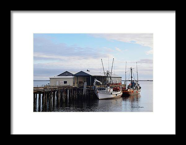 Barbara Snyder Framed Print featuring the photograph Golden Dolphin Eel Fishing Boat Port Angeles Washington by Barbara Snyder