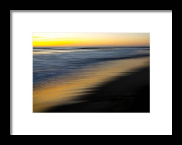 Golden Framed Print featuring the photograph Golden Shoreline In La Jolla by Michael Sangiolo