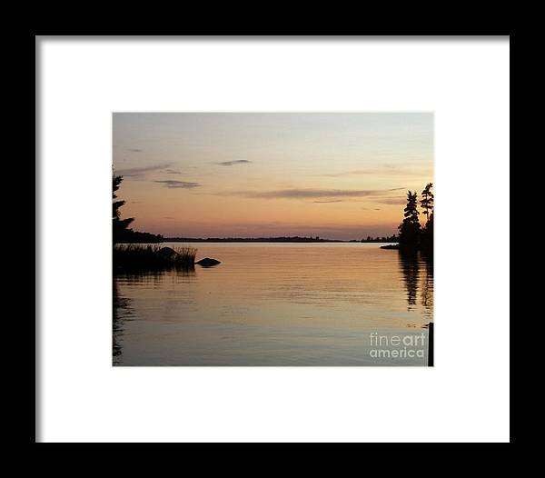 Sunset Framed Print featuring the photograph Golden Shores by Victoria C Clarke