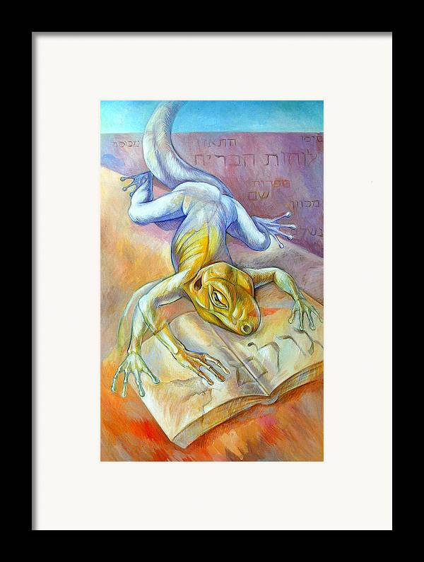 Surreal Framed Print featuring the painting Golem by Filip Mihail