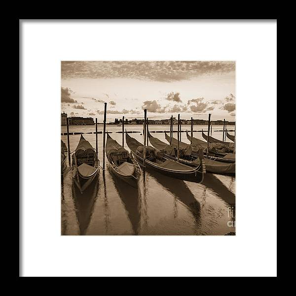Gondolas Framed Print featuring the photograph Gondolas by Timothy Johnson