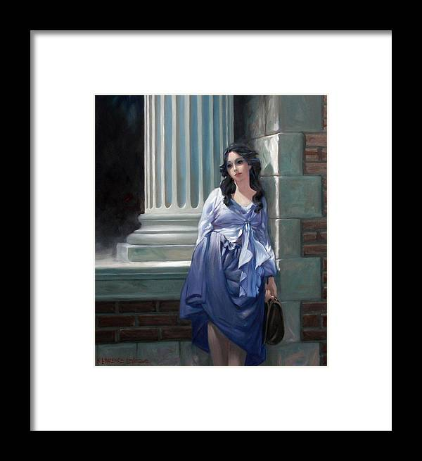 Figurative Framed Print featuring the painting Gone With The Wind by Kevin Lawrence Leveque