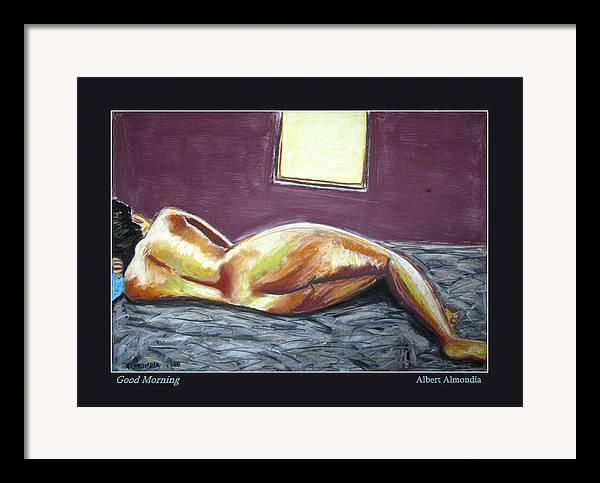 Figure Framed Print featuring the painting Good Morning by Albert Almondia