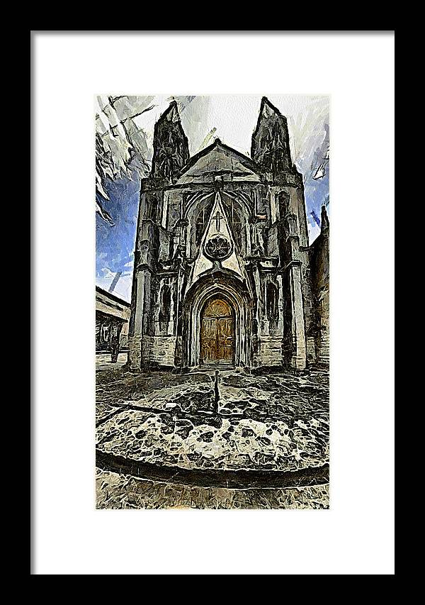 Gotic Framed Print featuring the photograph Gotic Church by Galeria Trompiz