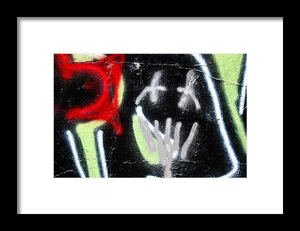 Graffiti Framed Print featuring the photograph Graffiti Fort Armistead Baltimore Maryland by Wayne Higgs