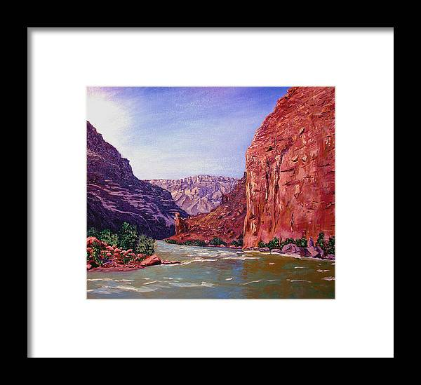 Grand Framed Print featuring the painting Grand Canyon I by Stan Hamilton