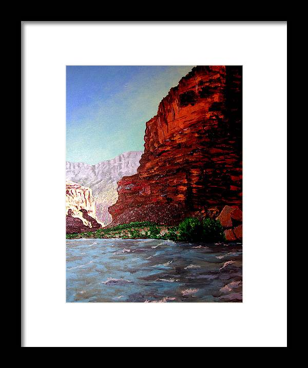 Grand Canyon Framed Print featuring the painting Grand Canyon II by Stan Hamilton
