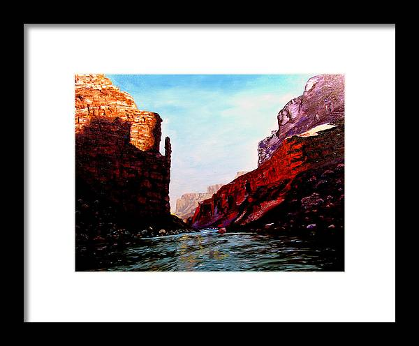 Grand Canyon Framed Print featuring the painting Grand Canyon Iv by Stan Hamilton