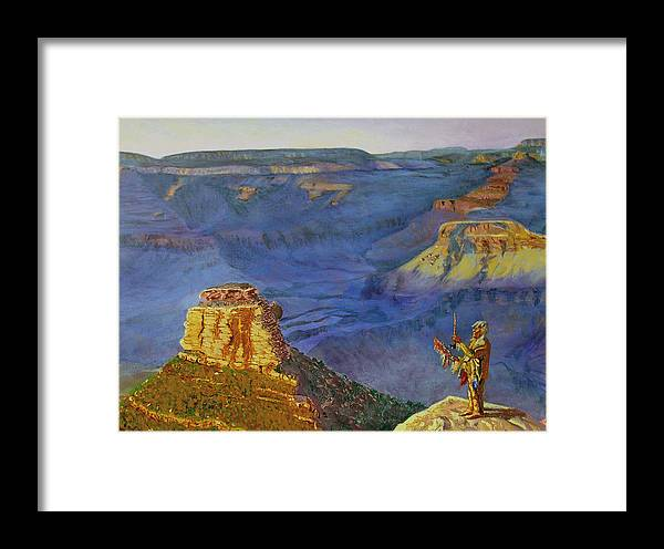 Grand Canyon Framed Print featuring the painting Grand Canyon V by Stan Hamilton