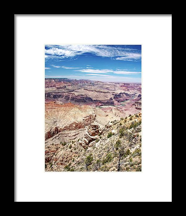 Grand Canyon National Park Framed Print featuring the photograph Grand Canyon View From The South Rim, Arizona by A Gurmankin