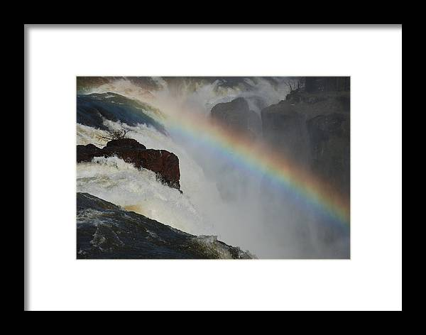 New Jersey Framed Print featuring the photograph Great Falls - Over The Edge by William Thomas