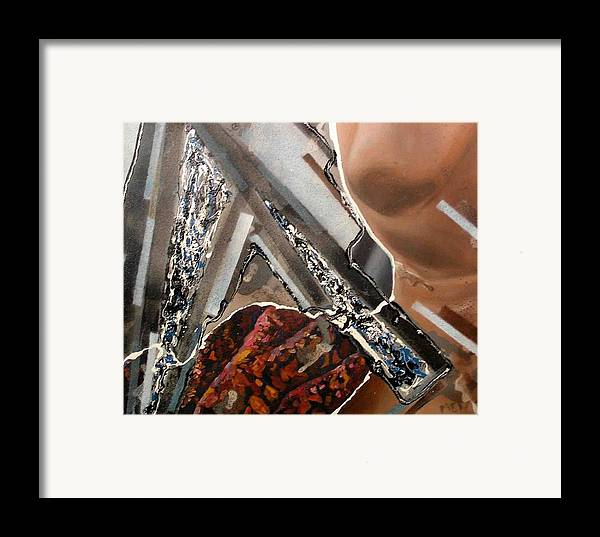 Framed Print featuring the painting Grey Day by Evguenia Men