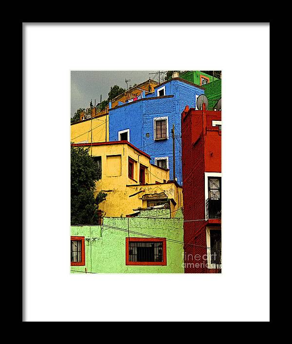 Darian Day Framed Print featuring the photograph Guanajuato Hillside 3 by Mexicolors Art Photography