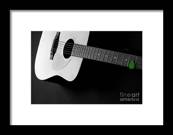 Acoustic Framed Print featuring the photograph Guitar Instrument For Playing Music by Lane Erickson