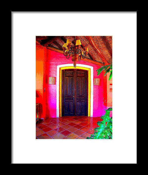 Darian Day Framed Print featuring the photograph Hacienda 2 By Darian Day by Mexicolors Art Photography