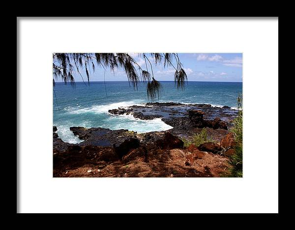 Spouting Framed Print featuring the photograph Hawaiian Snapshot by Annie Babineau